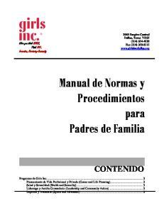 Manual de Normas y Procedimientos para Padres de Familia