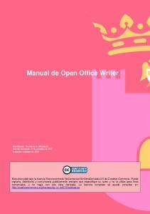 Manual de Open Office Writer