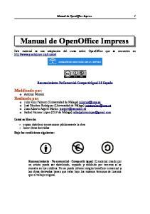 Manual de OpenOffice Impress