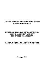 MANUAL DE ORGANIZACI6N Y FUNCIONES