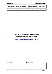 MANUAL DE ORGANIZACIÓN Y FUNCIONES ÓRGANO DE CONTROL INSTITUCIONAL