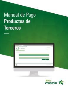Manual de Pago Productos de Terceros