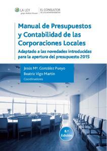 Manual de Presupuestos y Contabilidad de las Corporaciones Locales