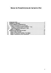 Manual de Procedimientos del Aplicativo CVar