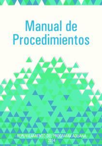 Manual de Procedimientos del Programa Aduana