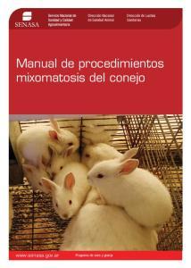 Manual de procedimientos mixomatosis del conejo