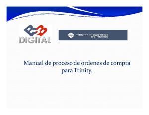 Manual de proceso de ordenes de compra para Trinity