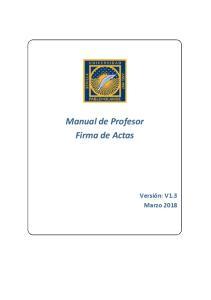 Manual de Profesor Firma de Actas