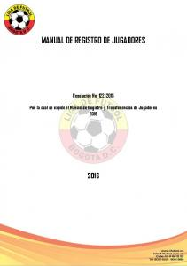 MANUAL DE REGISTRO DE JUGADORES
