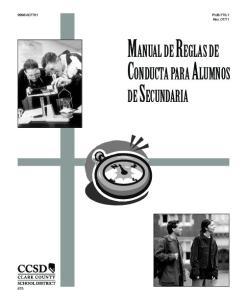 MANUAL DE REGLAS DE CONDUCTA PARA ALUMNOS
