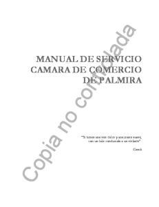 MANUAL DE SERVICIO CAMARA DE COMERCIO DE PALMIRA