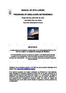MANUAL DE STELLARIUM: PROGRAMA DE SIMULACIÓN ASTRONÓMICA