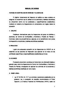 MANUAL DE TAREAS TAREAS DE CONTROLES EN BEBIDAS Y ALCOHOLES
