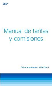 Manual de tarifas y comisiones