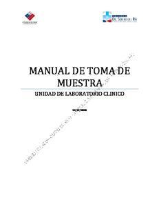 MANUAL DE TOMA DE MUESTRA UNIDAD DE LABORATORIO CLINICO