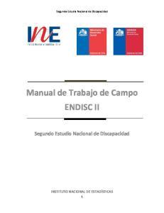 Manual de Trabajo de Campo ENDISC II