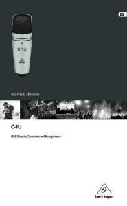 Manual de uso C-1U. USB Studio Condenser Microphone