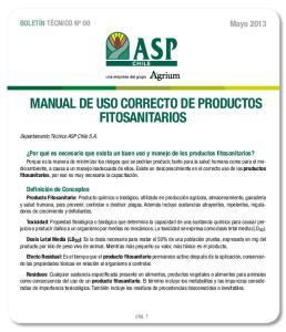 MANUAL DE USO CORRECTO DE PRODUCTOS FITOSANITARIOS