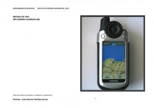 MANUAL DE USO: GPS GARMIN COLORADO 300