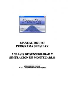 MANUAL DE USO PROGRAMA SENSIBAR