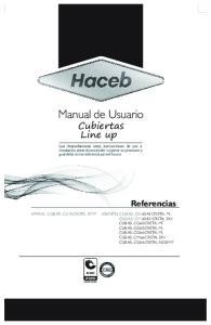 Manual de Usuario. Cubiertas Line up