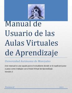 Manual de Usuario de las Aulas Virtuales de Aprendizaje