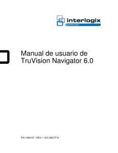 Manual de usuario de TruVision Navigator 6.0
