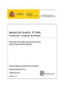 Manual de Usuario IFI Web