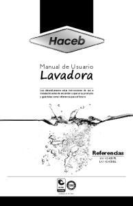 Manual de Usuario. Lavadora