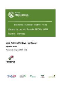 Manual de usuario Portal eredd+ WEB Tablero: Biomasa