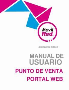 MANUAL DE USUARIO PUNTO DE VENTA PORTAL WEB