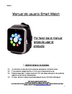Manual de usuario Smart Watch