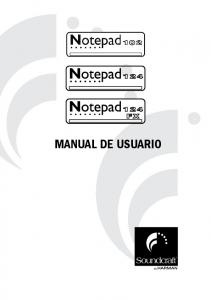 MANUAL DE USUARIO. Soundcraft Notepad Manual de Usuario Issue 1110