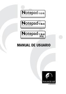 MANUAL DE USUARIO. Soundcraft Notepad Manual de Usuario Issue 1110
