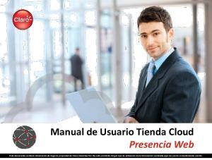 Manual de Usuario Tienda Cloud Presencia Web