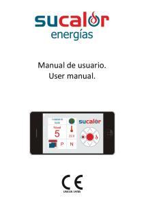 Manual de usuario. User manual