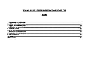 MANUAL DE USUARIO WEB CITA PREVIA CIP
