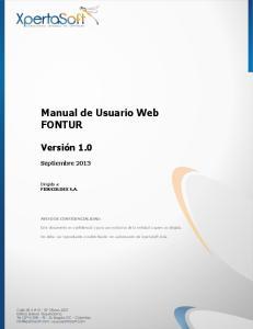 Manual de Usuario Web FONTUR