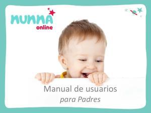 Manual de usuarios para Padres