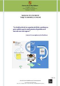 MANUAL DE USUARIOS TARJETA AMARILLA ONLINE