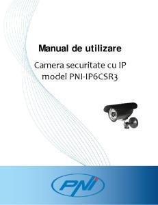 Manual de utilizare. Camera securitate cu IP