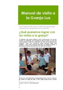 Manual de visita a la Granja Lux