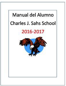 Manual del Alumno Charles J. Sahs School