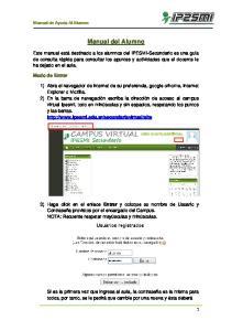 Manual del Alumno. Manual de Ayuda Al Alumno