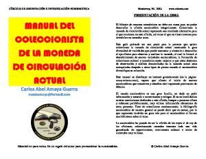 MANUAL DEL COLECCIONISTA DE LA MONEDA DE CIRCULACIÓN ACTUAL