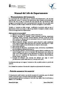 Manual del Jefe de Departamento