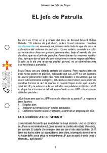 Manual del Jefe de Tropa. EL Jefe de Patrulla