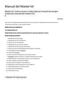 Manual del Master kit
