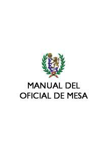 MANUAL DEL OFICIAL DE MESA