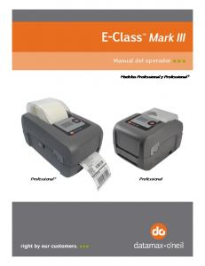 Manual del operador. Modelos Professional y Professional +